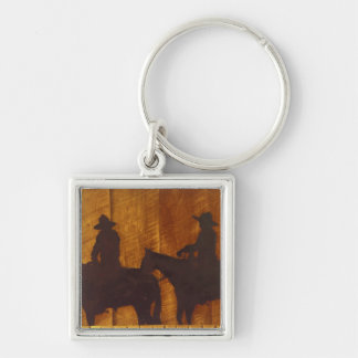 USA, Montana, Boulder River Cowboys on horses Keychain