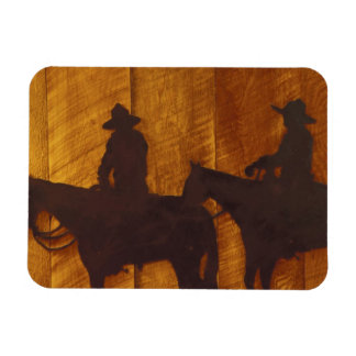 USA, Montana, Boulder River Cowboys on horses Magnet