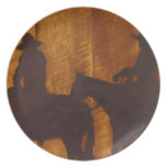 USA, Montana, Boulder River Cowboys on horses Dinner Plates