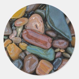 USA, Montana, Clark Fork River, Stones Classic Round Sticker