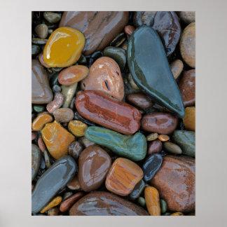 USA, Montana, Clark Fork River, Stones Poster