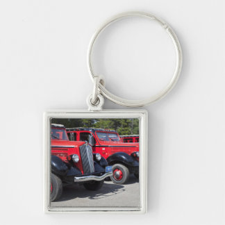 USA, Montana, East Glacier Park, gateway to Silver-Colored Square Keychain