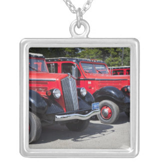 USA, Montana, East Glacier Park, gateway to Silver Plated Necklace