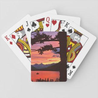USA, Montana, Glacier National Park. Landscape Playing Cards