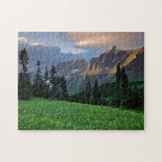 USA, Montana, Glacier National Park, Logan Pass Jigsaw Puzzle