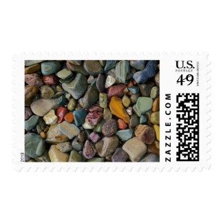 USA, Montana, Glacier National Park, Stones Stamp