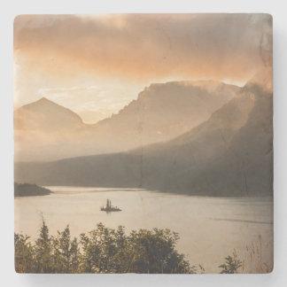USA, Montana, Glacier National Park. Sunrise Stone Beverage Coaster