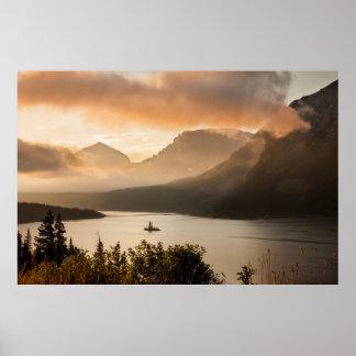 USA, Montana, Glacier National Park. Sunrise Poster