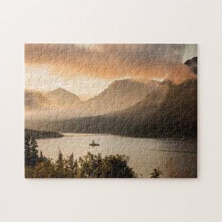 USA, Montana, Glacier National Park. Sunrise Puzzle