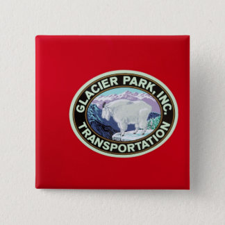 USA, Montana, Glacier National Park, Vintage 2 Pinback Button