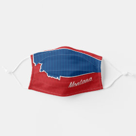USA Montana State Stars and Stripes Map Cloth Face Mask