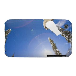 USA, Montana, Whitefish, Young man snowboarding iPhone 3 Case