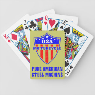 USA Motorcycle Steel Machine Bicycle Playing Cards