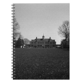 USA Mount Vernon George Washington house 1970 Spiral Notebook