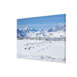 USA, MT, Farm near Livingston Canvas Print