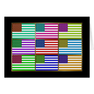 USA Multihue Flags Greeting Card