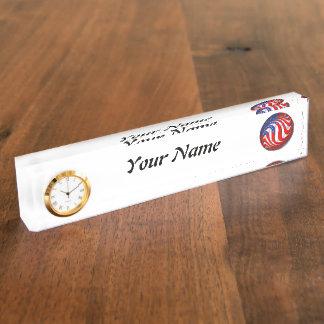 USA NAME PLATE