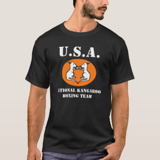 USA National Kangaroo Boxing Team t-shirt