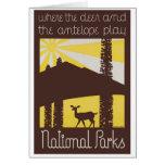 USA National Parks Vintage Poster Restored Card