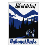 USA National Parks Vintage Poster Restored Card