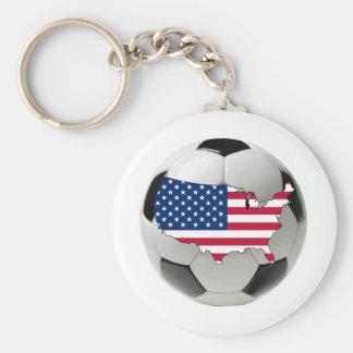 USA national team Basic Round Button Keychain