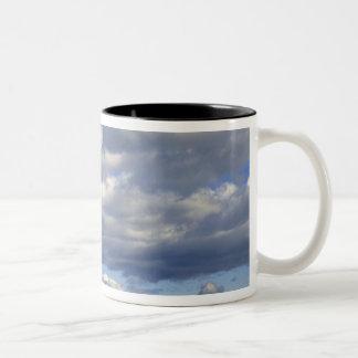 USA, Nebraska, Morrill County. Golden hay Two-Tone Coffee Mug
