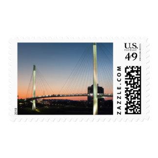 USA, Nebraska, Omaha, Bob Kerrey Pedestrian Stamps