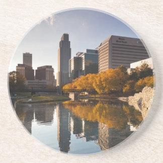 USA, Nebraska, Omaha, Gene Leahy Mall, Skyline Sandstone Coaster