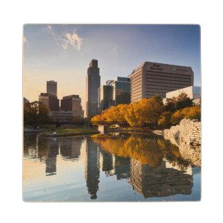 USA, Nebraska, Omaha, Gene Leahy Mall, Skyline Wooden Coaster