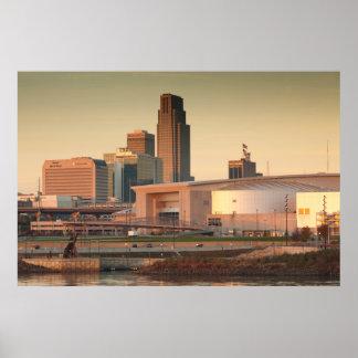 USA, Nebraska, Omaha, Skyline Poster