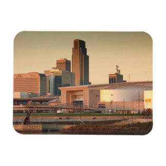 USA, Nebraska, Omaha, Skyline Rectangular Photo Magnet