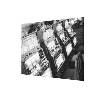 USA, Nevada, Las Vegas: Casino Slot Machines / Canvas Print