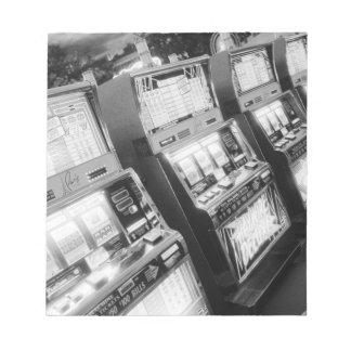 USA, Nevada, Las Vegas: Casino Slot Machines / Notepad