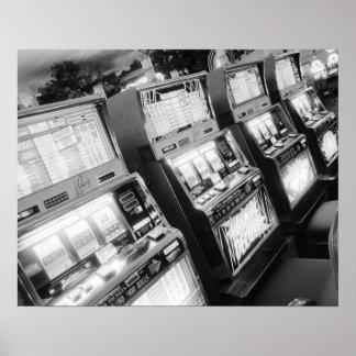USA, Nevada, Las Vegas: Casino Slot Machines / Poster