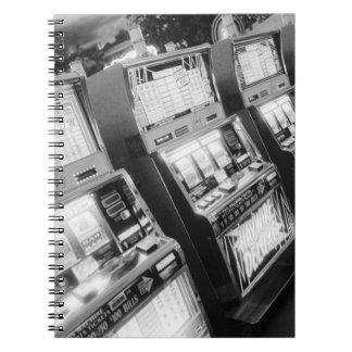 USA, Nevada, Las Vegas: Casino Slot Machines / Spiral Notebook