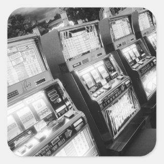 USA, Nevada, Las Vegas: Casino Slot Machines / Square Sticker