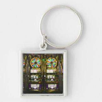 USA, Nevada, Las Vegas. McCarran International Silver-Colored Square Keychain