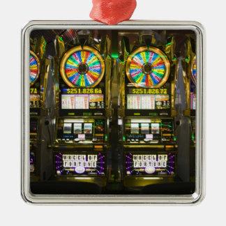 USA, Nevada, Las Vegas. McCarran International Square Metal Christmas Ornament