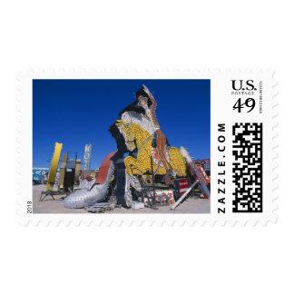 USA, Nevada, Las Vegas, signs in junkyard Postage Stamp