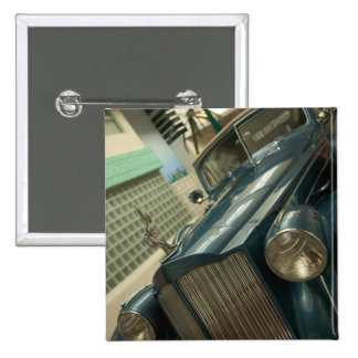 USA, Nevada_Reno: National Automobile Museum Button
