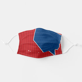 USA Nevada State Stars and Stripes Map Cloth Face Mask