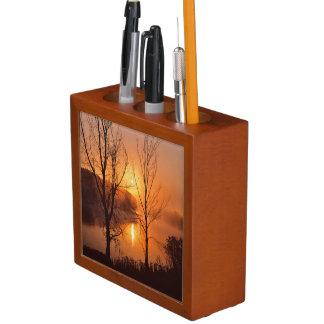 USA, New England, Maine. Autumn Sunrise Pencil/Pen Holder