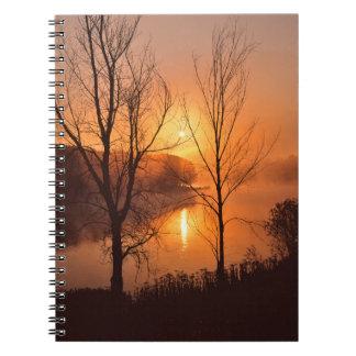 USA, New England, Maine. Autumn Sunrise Spiral Notebook