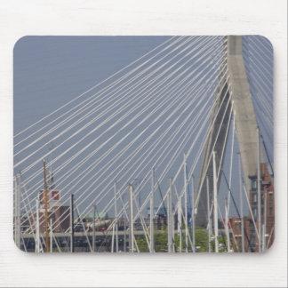 USA, New England, Massachusetts, Boston, boats Mouse Pads