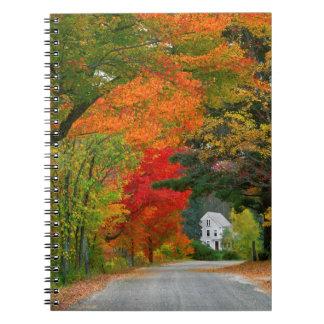 USA, New England, New Hampshire, Andover Spiral Notebook