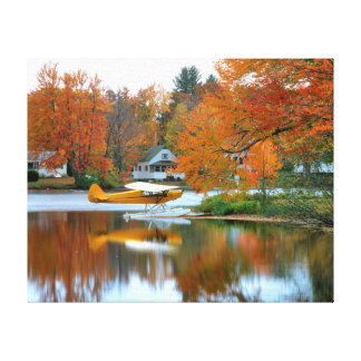 USA, New England, New Hampshire. Float Plane Canvas Print