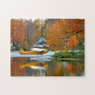 USA, New England, New Hampshire. Float Plane Jigsaw Puzzle