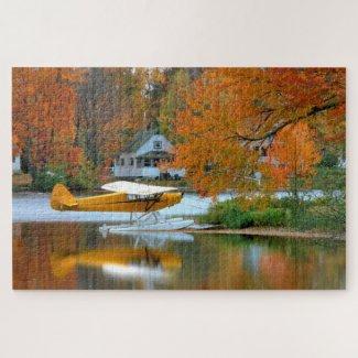 USA, New England, New Hampshire. Float Plane Jigsaw Puzzle