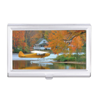 USA, New England, New Hampshire. Float Plane Case For Business Cards