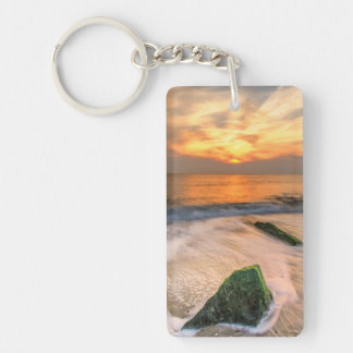 USA, New Jersey, Cape May. Scenic On Cape May 2 Double-Sided Rectangular Acrylic Keychain